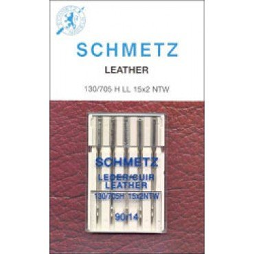 #1715 Schmetz Machine Needle Leather 5 Pk Sz 90/14