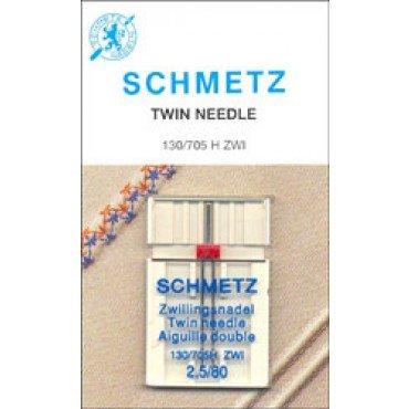 #1723 Schmetz Machine Needle Twin Universal Sz 2.5/80 1ct