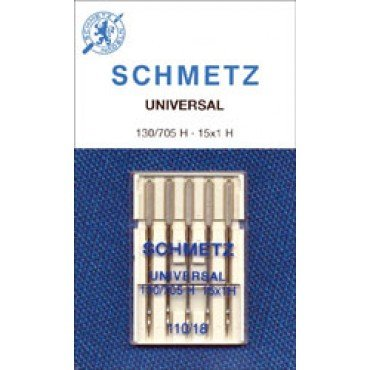 #1728 Schmetz Machine Needle Universal 5 Pk  Sz 110/18