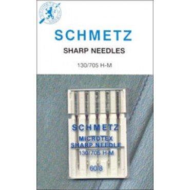 #1732 Schmetz Machine Needle Microtex 5 Pk Sz 60/8