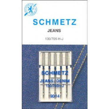 #1782 Schmetz Machine Needle Denim 5 Pk Sz 90/14