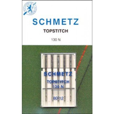 #1792 Schmetz Machine Needle Topstitch 5 Pk Sz 80/12