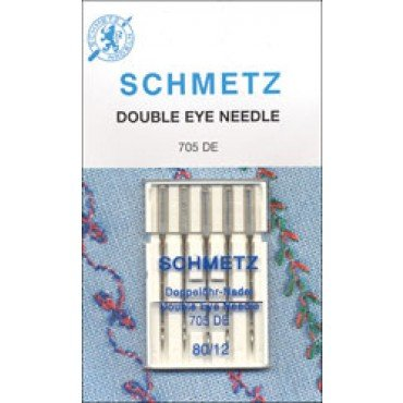 #1822 Schmetz Machine Needle Double Eye 5 Pk  Sz 80/12
