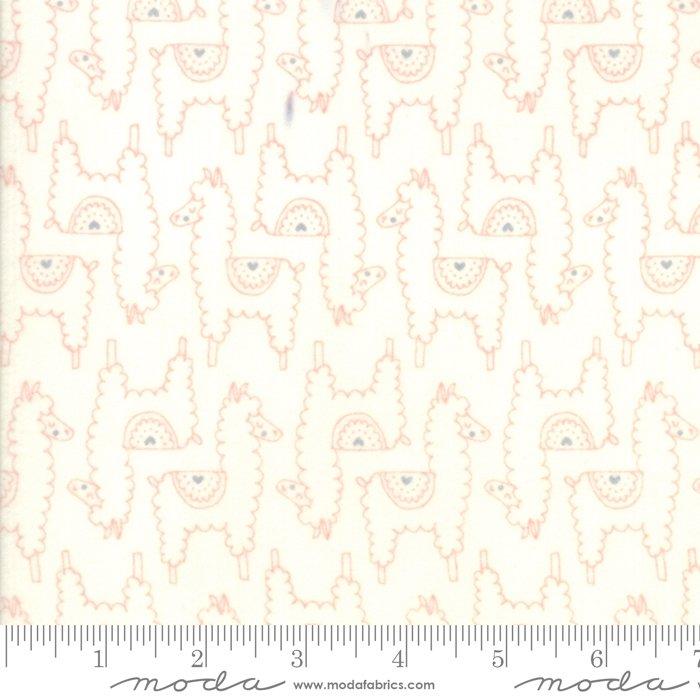 20603 22F Soft Sweet Flannel Llamas  Pink Cream