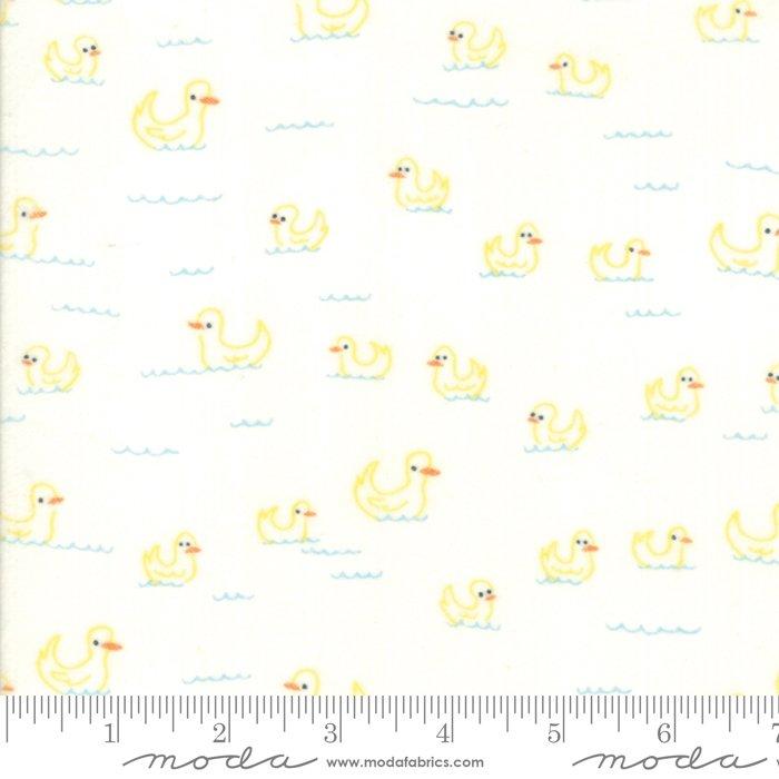 20604 11F Soft Sweet Flannel Ducks Cream