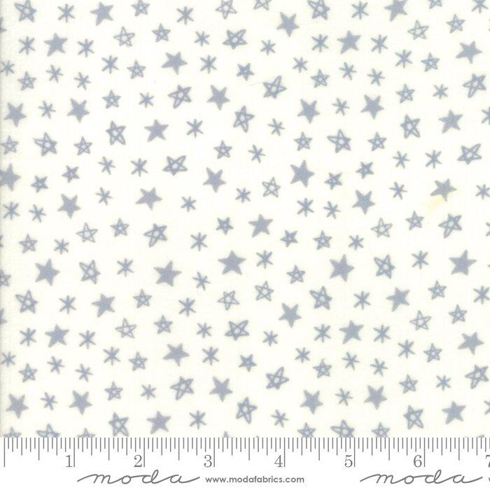 20607 11F Soft Sweet Flannel Stars Grey Cream