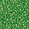 QT Holiday Metals 23544 G Gold stars on Green