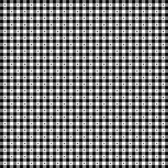 1649 23691 J QT Sorbets Gingham Black