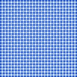 1649 23691 Y QT Sorbets Gingham Royal Blue