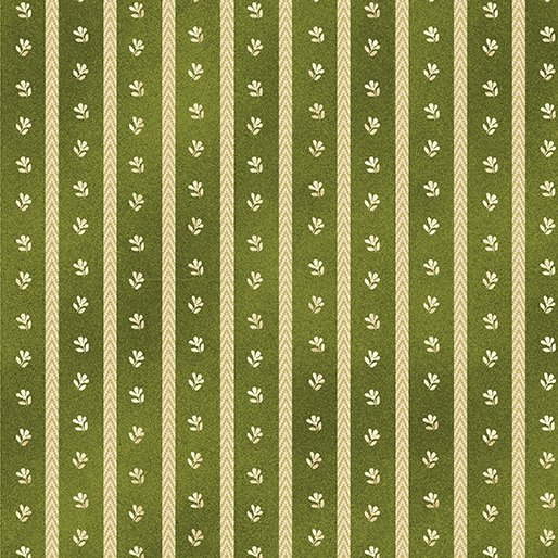 02543 44 Benartex Twill Stripe Green  Liberty Hill