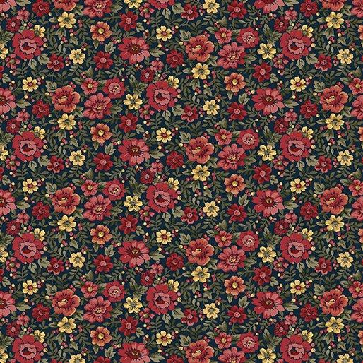 02548 55  Benartex Floral Blue  Multi  Liberty Hill