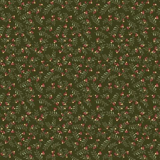 02548 Benartex  leaves and berrries green  Liberty Hill