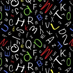 Alphabet Soup Alphabet Toss Black 28210 J