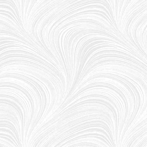 2966 W09B Wide Wave Texture White