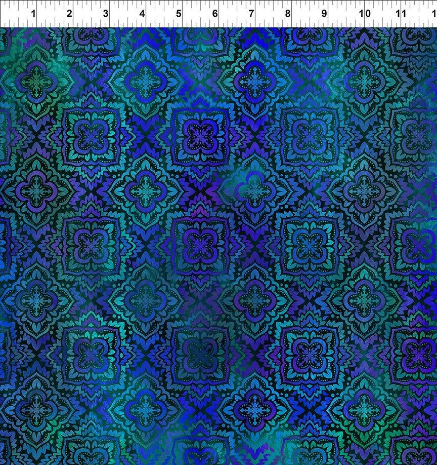 Tapestry Medallion Blue 3TAP2