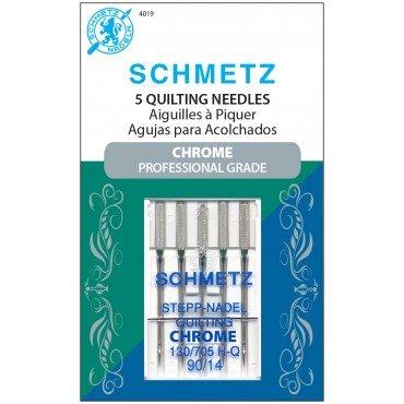 #4019 Schmetz Machine Needle Chrome Quilting 5 Pk Sz 90/14 -