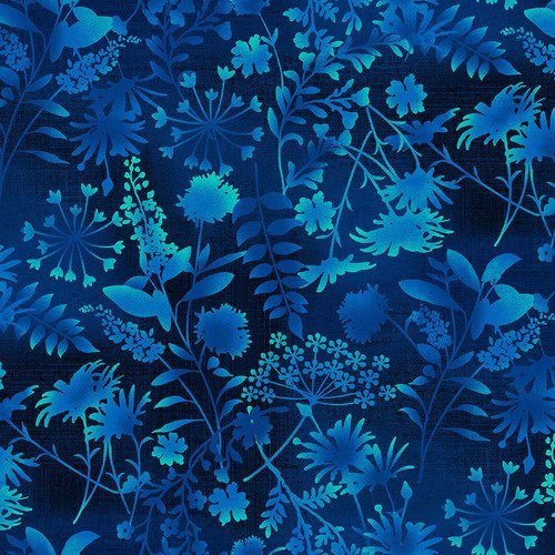 4493-77 Feather & Flora Wildflower Toss Midnight