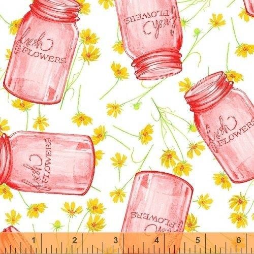 50578-3 Windham Cottage Joy Flower Jars  Pink