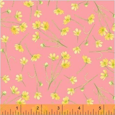 50579-3 Windham Cottage Joy Tossed Flowers  Pink