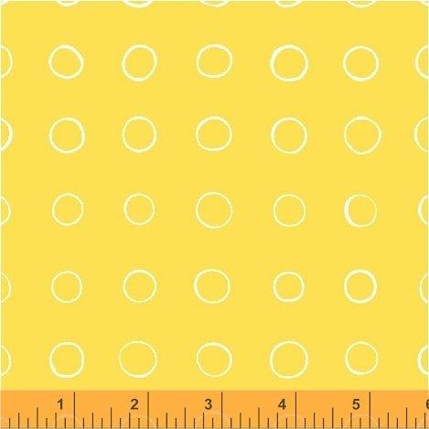 50581-4 Windham Cottage Joy Ring Dot  Yellow