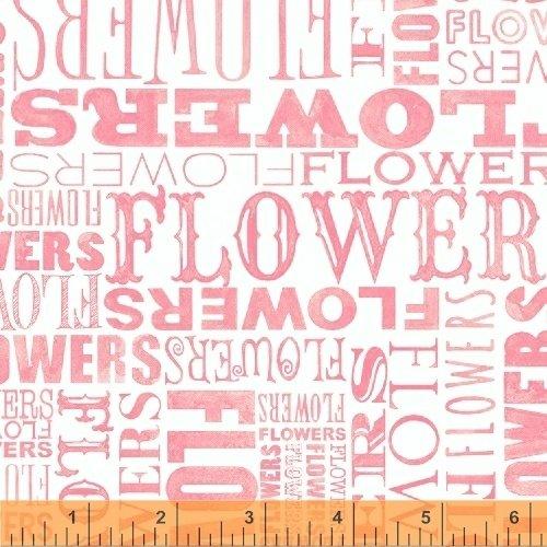 50582-3 Windham Cottage Joy Flower Word  Pink