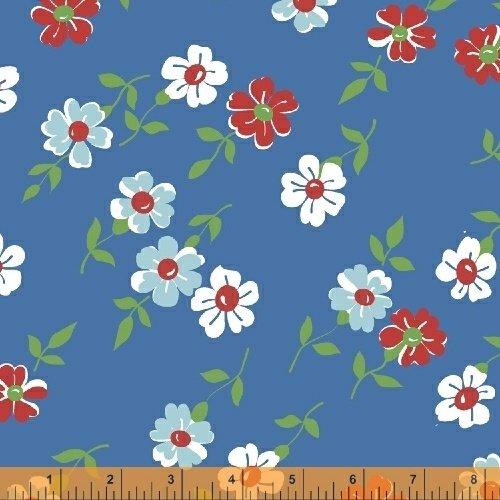 51054-4 Bounce Floral Blue