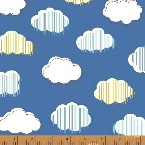 51056-4 Bounce Clouds Blue