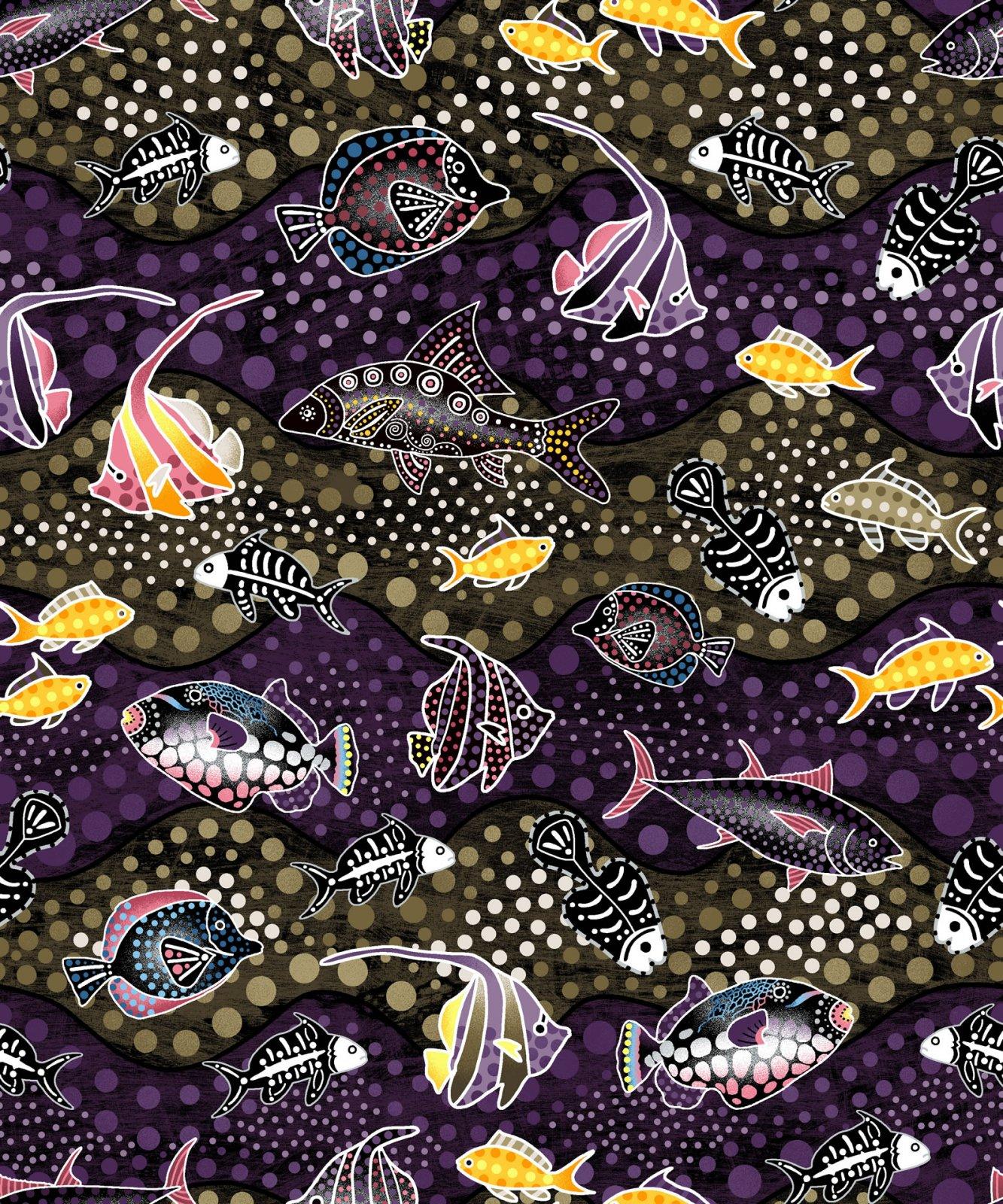 Way Under Fish Purple/Brown 6022802