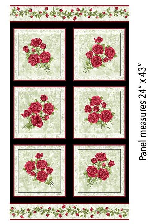 06635P42B Festive Roses Panel