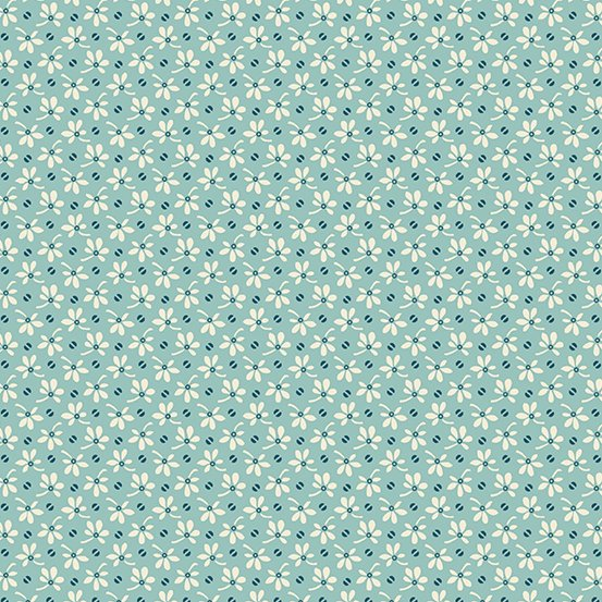 Annabella by Renee Nanneman Tiny Floral Teal A-9723-T
