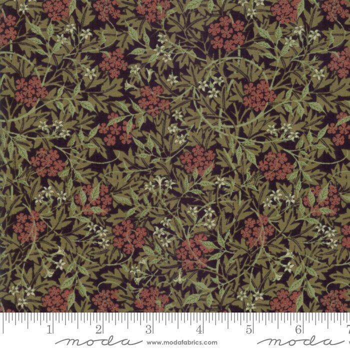 7332-12 Morris Garden Reproduction Jasmine 1872 Ebony