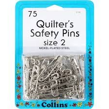 Quilters Safety Pins size 2 W132