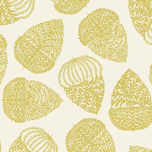 7772-07 Harvest Gold Acorns Cream