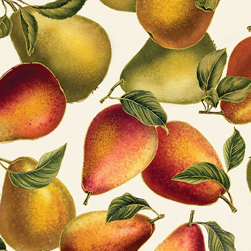 7774-07 Harvest Gold Elegant Pears Cream