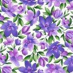 8400M-WV Maywood Studios Catalina Ultra Lg Floral White/Purple