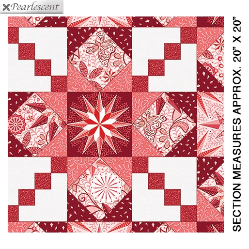 Celestial Lights Endless Quilting Red 9629P 10