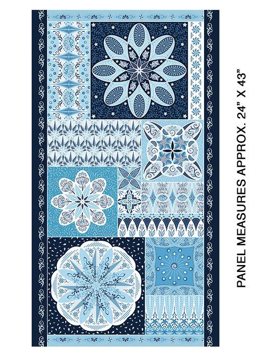 Celestial Lights Ruler Panel Blue 9638P 50
