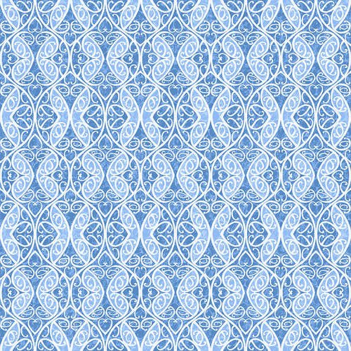Once in a Blue Mood 9739-75 Butterfly Scroll Med Blue