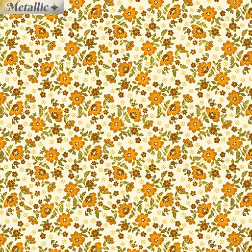 Radiant Mini Blossoms 9746M-07 Cream/Orange