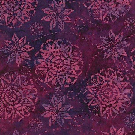 Timeless Treasures Batik Dream B6168 Berry