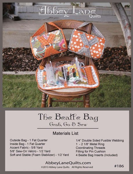 Abbey Lane Quilts - Pattern & The Beatle Bag Inserts #186