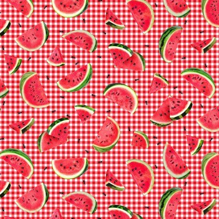Fruit, Ants and Watermelon C7963 Pink