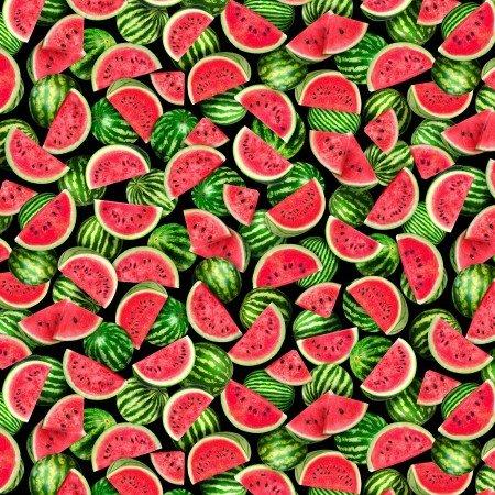 Fruit, Packed Watermelons C7964 Black