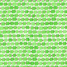 Whimsy Daisical Small Rectangles B1433-60 Green