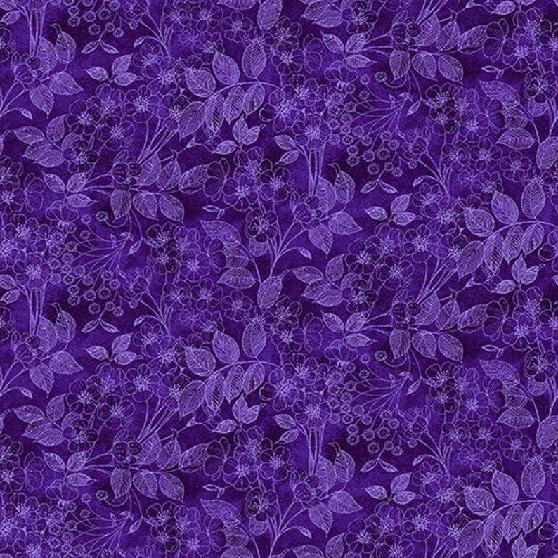 1425-55 Luna Garden Tonal Floral Purple