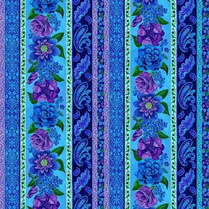 1422-70 Luna Garden Stripe Lt Blue