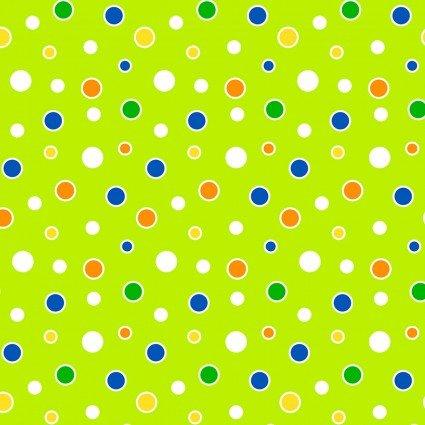 Benartex Toadally Cool Dots Green 9831GL 40