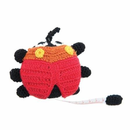 Crocheted Tape Measure Blue Ladybug TM10114