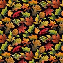 Fall Delight Autumn Leaves Black 1528-99