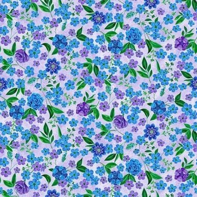1424-50 Luna Garden Small Floral Lt Purple